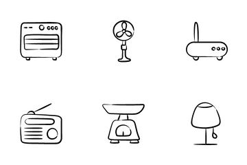 Electronics And Home Appliances Icon Pack