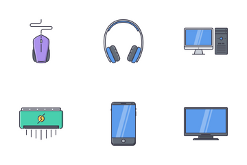Electronics Filled Outline Icon Pack