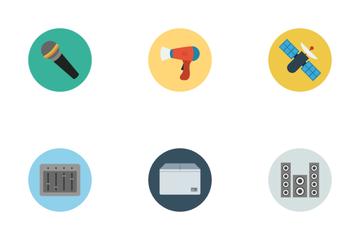Electronics Flat Icons Icon Pack