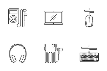 Electronics Outline Icon Pack