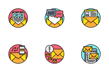 Email And Letter Icon Pack