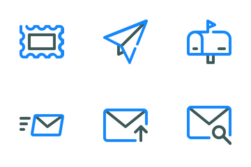 Email Colored Line Icon Pack