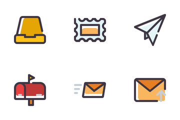Email Filled Line Icon Pack