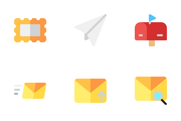 Email Flat Icon Pack