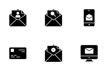 Emails Glyph VOL 1 Icon Pack