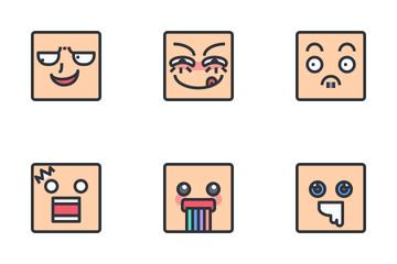 Emoji Cartoon Face Icon Pack