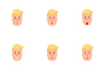 Emoji Man 1 Icon Pack