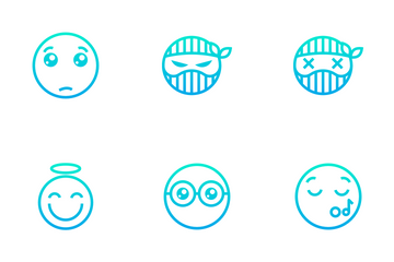 Emoji - Outline Gradient Icon Pack