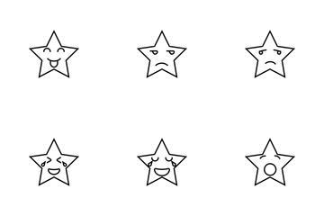 Emoji Star Bold Icon Pack