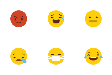 Emoticons Flat Icon Pack