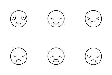 Emoticons Thinline Icon Pack