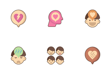 Emotions And Emotional Intelligence Icon Pack
