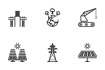 Energy And Construction Icon Pack