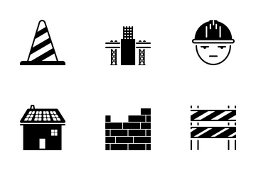 Energy And Construction Solid Icon Pack