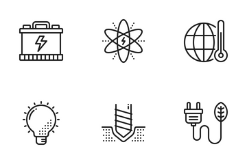 Energy And Ecology Icon Pack