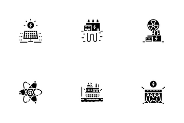 Energy Electricity And Fuel Power Icon Pack