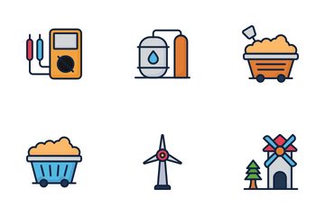 Energy Power Plant Vol 1 Icon Pack