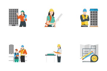Engineer Construction Equipment Icon Pack