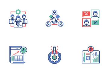 Entrepreneur Flat Outline - Overweight Invest Icon Pack