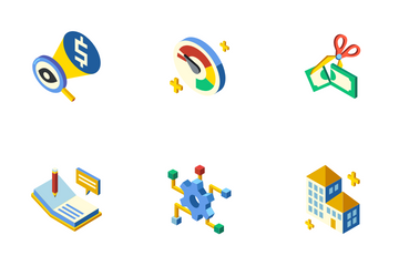 Entrepreneur Isometric - Business Ambition Icon Pack