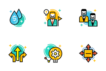Entrepreneur Line Color - Business Ambition Icon Pack