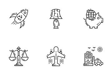 Environment And Eco Line Icons Icon Pack