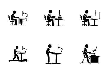 Ergonomic Workstation Icon Pack
