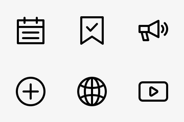 Essential Line - Vol 1 Icon Pack