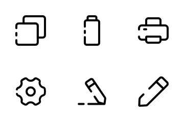 Essential User Interface : Unique Style Icon Pack