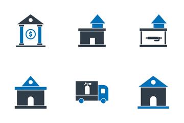 Estate Building Icon Pack