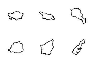 European Country Map Icon Pack