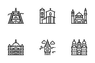 European Landmarks Icon Pack