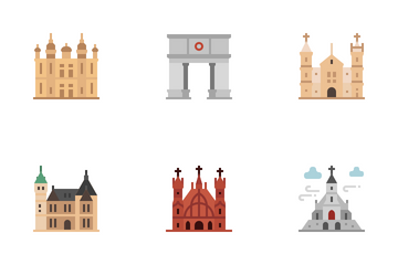 European Landmarks Icon Pack