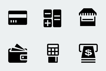 Everyday Digital Banking & Finance Icon Pack