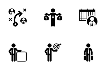 Executive Man Icon Pack