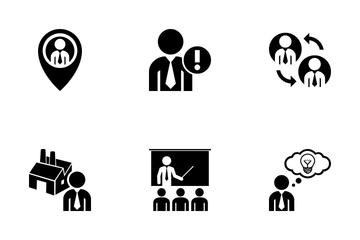 Executive Man Glyphs Icon Pack