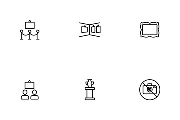Exhibition And Museum Icon Pack