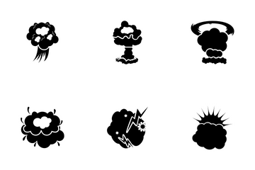 Explosion And Fire Icon Pack