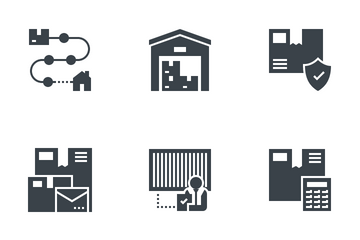 Express Delivery Service Icon Pack