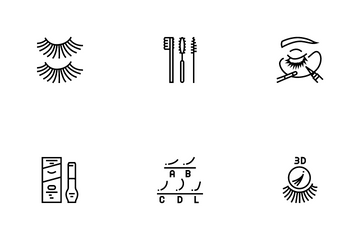 Eyelashes Extension Icon Pack