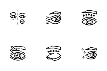 Eyelid Surgery Healthy Icon Pack