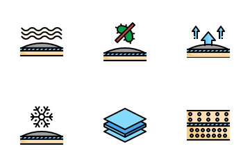Fabric Materials Icon Pack