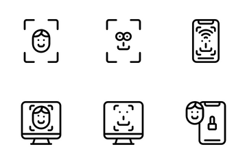 Face Unlock Icon Pack