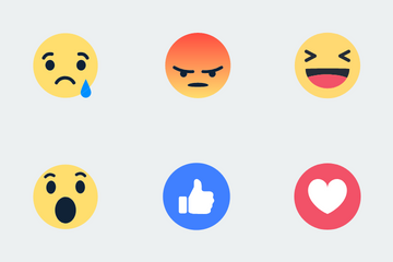 Facebook Reactions/emoticons Icon Pack