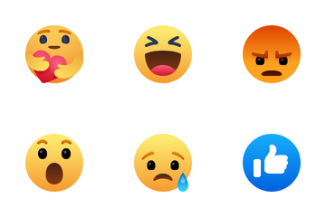 Facebook Reaction Icon Pack
