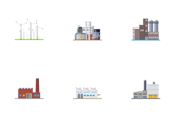 Factories And Plants Icon Pack