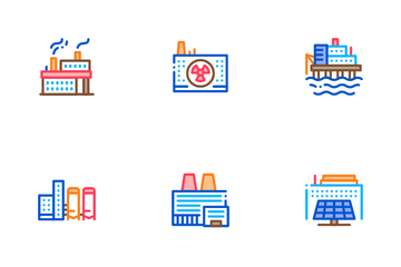 Factory Industrial Icon Pack
