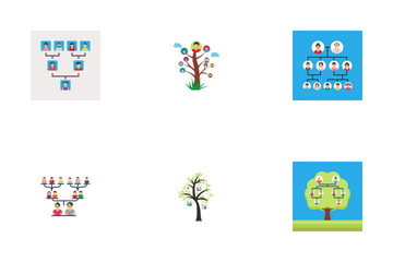 Family And Family Tree Icon Pack