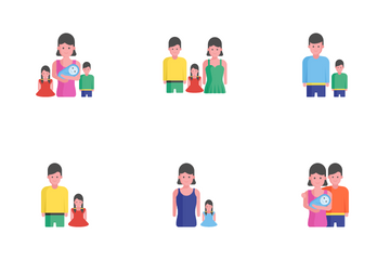 Family Home, Kids And Friends Icon Pack