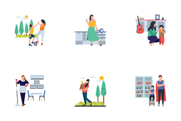 Family Scene Icon Pack